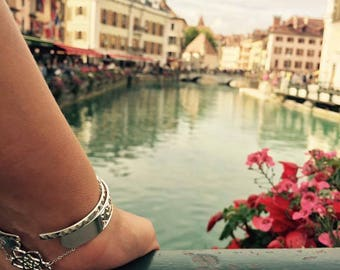 Venus flower chain bracelet