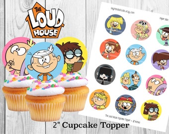 The Loud House Printable Cupcake Toppers / Topper - 2 inches  - The Loud House Party Prints / Supplies