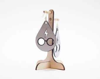 Potter Lightning Bolt and Glasses Earrings