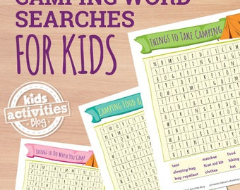 Camping Word Searches Printable Puzzle Games