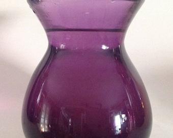 Studio Glass Amethyst Glass Vase