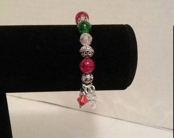 Christmas charm stretch bracelet