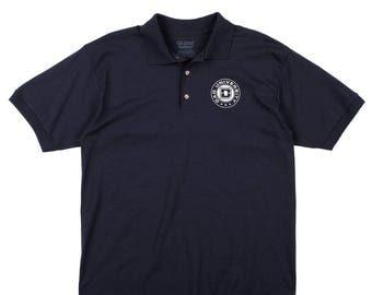 Dad University Navy Blue Jersey Knit Polo Golf Shirt