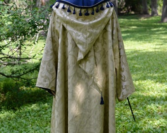 Golden Mystic Witch or Wizard Robe / Adult Costume