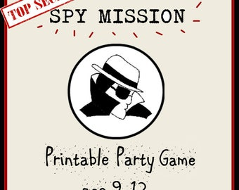 Spy Mission Printable Party Pack