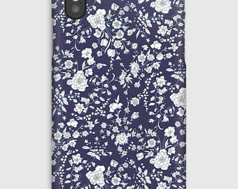 Case for iPhone X 8, 8 +, 7, 7 +, 6s, 6, 6s +, 6, 5 c, 5, 5s 5SE, 4s, 4 Liberty Summer Blooms C