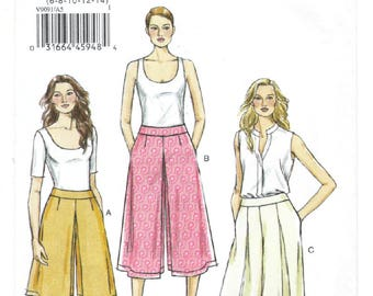 V9091 - Very Easy Vogue - Misses Culottes & Pants - NEW sewing pattern - sz A5 6-8-10-12-14