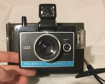 Vintage Polaroid Land Camera ColorPack II with Case, Print Mounts, Film, Instructions, Etc. 60's 70's Photography Collectible