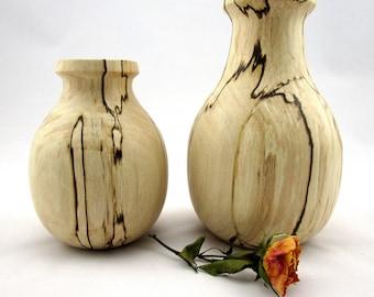 Wooden vase, decorative vase, wood container, design vase, wood vase for home, modern vase, spalted wood vase, turned vase, home decoration
