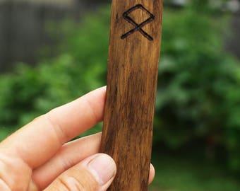 Odal Rune Driftwood Bookmark pagan viking runes heathen germanic nordic elder futhark vikings