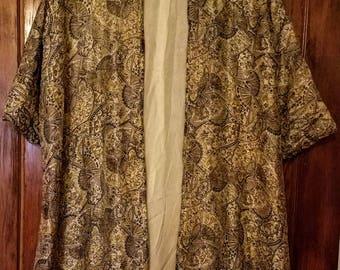 Vintage Silk Women's Coat (size 10 or 12)