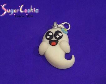 Polymer Clay Ghost Charm