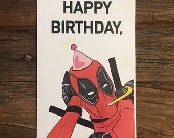 Deadpool Happy Birthday Card