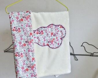 Floral fabric blanket baby blanket