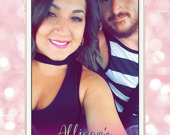 bachelorette party snapchat filter, bachelorette geofilter, pink bachelorette party, glitter bachelorette filter
