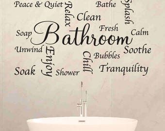 Bathroom Word Sticker - Wall Art - Wall Decal - your wall stickers