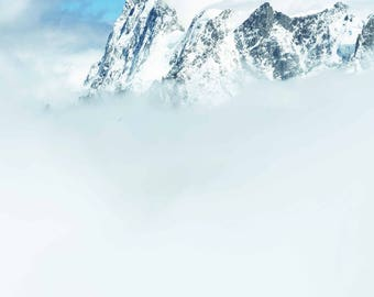Alps mountain photography print Aiguille du midi travel photography print climbing mountaineering