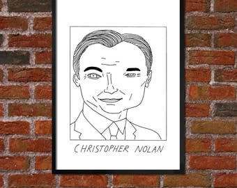 Badly Drawn Christopher Nolan - Film / Movie / Cinema Poster