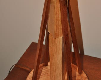 Wood Craftsman Style Table Accent Lamp