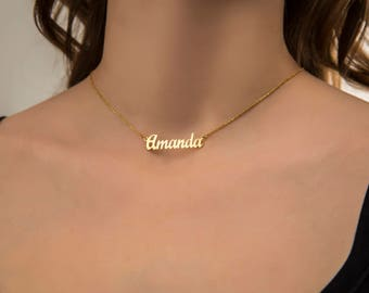 Custom Name Necklace | Nameplate Necklace For Women | Baby Name Necklace | Best Friend Necklace | Kid Name Necklace | New Mom Gift