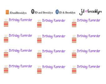 Birthday Reminder Sticker Sheet