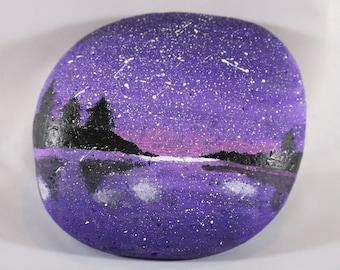 Purple Night Sky Lake
