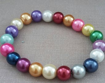 Multi color beaded bracelet.