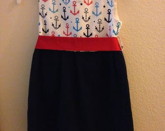 Navy Blue Sailor Dress