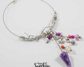 Purple rain necklace
