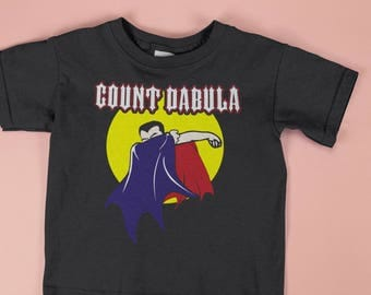 Count Dabula T Shirt Dabbing Dracula Kids Halloween Costume T-Shirt