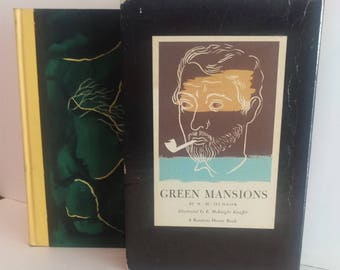 Green Mansions, A Romance of the Tropical Forest, W.H. Hudson, Slipcover, Hardcover, 1944, Illustrated
