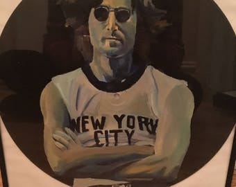 John Lennon Hand Painted Record