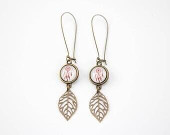 Feather dreamcatcher earrings #1211