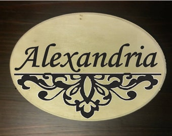 Customized Wood Burned Plaque