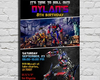 Transformers Birthday Invitation, Transformers Birthday Party, Transformers Invitation, Transformers Party Invitation, Transformers Birthday