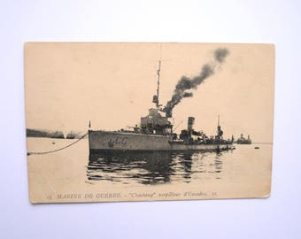 1920/30 - rare postcard - France - Marine nationale Philip - destroyer - ship destroyer ship WW1