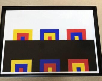 "Enzo Mari ""le porte"" Framed Screen Print"