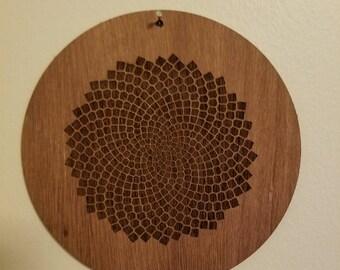 "Sunflower Fractal 7"" Wall Hanging"
