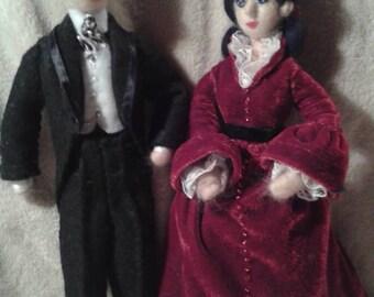 Rhett and Scarlett felt figures