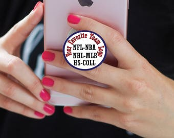 Professional Sports | Highschool Sports Team Pop Socket Decal or Cover | College Sports Team Pop-Socket Cover Installed | Your Favorite Team