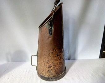 Early XX copper coal bucket - 28030
