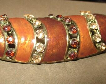 Slider for Scarves, Enamelled. Copper with paste stones 1970's