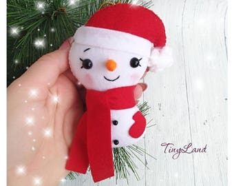 Cute Snowman Snowman Felt Christmas Ornaments  Christmas Tree Ornaments Handmade Snowman New Year Decor Xmas Gifts Christmas Decorations