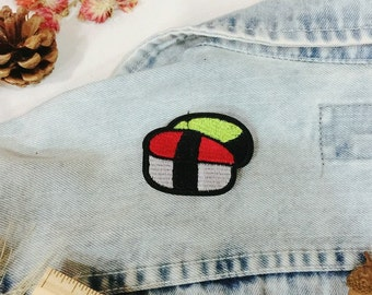 suchi patch-iron on patch-embroidered patch-food patch -DIY-patch for jacket