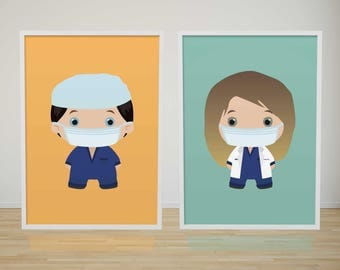 GREY'S ANATOMY POSTER - Illustration - Wall Art - Art Prints