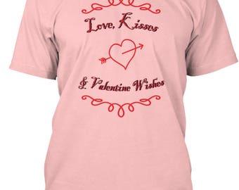 Love Kisses & Valentine Wishes Tee