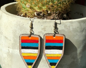 Serape Collection Zoey Earrings | Leather Earrings | Birthday Gift | Anniversary | Gifts under 25 | Handmade | Gifts for Her