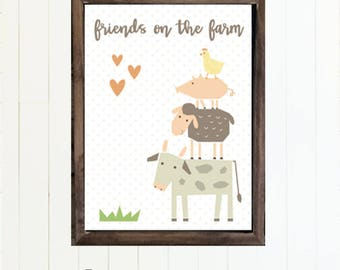 Friends on the Farm Nursery Decor