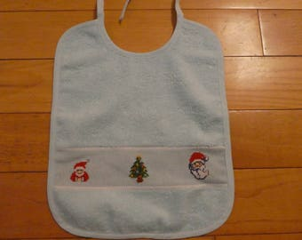 Christmas cross stitch bib