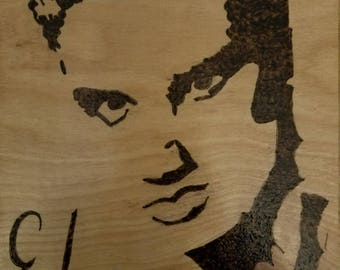 Elvis Wood Burned Plaque 8 x 10
